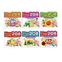 Sách Combo Sticker 208 miếng dán hình thông minh - IQ-EQ-CQ trọn bộ 6 cuốn