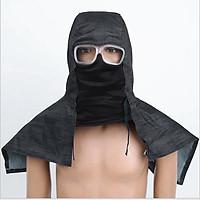 Sand Proof Anti-dust Protective Denim Face Mask Hood Cap w/ Glasses Goggles