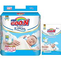 Tã Dán Goo.n Premium Gói Cực Đại Newborn NB70 (70 Miếng) - Tặng thêm 8 miếng cùng size
