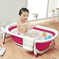 Chậu tắm gấp gọn cho bé tiện dụng tiết kiệm không gian mầu ngẫu nhiên