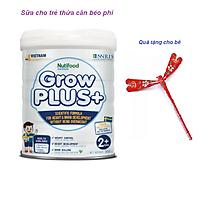 Sữa Bột Growplus+ Trắng 850g của Nutifood - Giúp Trẻ Kiểm Soát Cân Nặng Phát Triển Chiều Cao Và Não Bộ, tặng chú chuồn chuồn tre dễ thương.