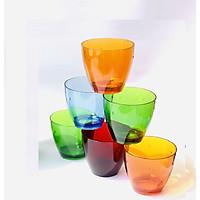 Bộ 6 cốc nhựa Acrylic cap cấp Song Long- Kiểu dáng hiện đại sang trọng- Trộn màu ngẫu nghiên