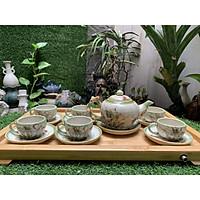 Bộ ấm trà vẽ chuồn tách lót