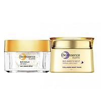 Combo dưỡng da tươi trẻ ngăn ngừa lão hóa Bio-Essence ( Kem dưỡng ban đêm Bio-Gold 40g + Mặt nạ ngủ Bio-Bird's Nest Collagen 50g)