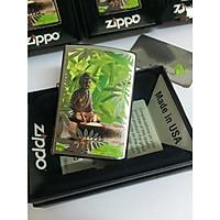 Bật Lửa Zippo Buddah Brushed Chrome Chính Hãng Usa
