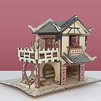 Đồ chơi lắp ráp gỗ 3D Mô hình Tea House Laser