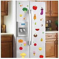 Decal dán tủ lạnh hình rau củ quả dễ thương, vui nhộn