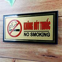 Biển Không hút thuốc bằng đồng