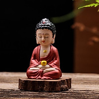 Tượng Phật Thiền Gốm Đỏ