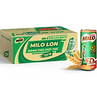 Sữa Lúa Mạch Nestlé MILO Lon Thùng 24 Lon x 240 ml (4x6x240ml)