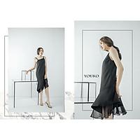 Đầm đen hai dây suông thanh lịch dạo phố Thiết kế công sở bigsize váy đầm nữ đẹp đi biển giá rẻ
