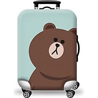 Túi bọc bảo vệ vali -Áo vỏ bọc vali - Gấu Nâu H108