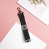 Móc khóa dây vải ngắn chữ M đen