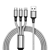 3 In 1 Multi USB Charging Cable For IPhone USB TYPE C Android Micro Cord