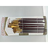 Bộ 10 cọ vẽ màu nước, màu Acrylic, màu sơn dầu nhiều kích cỡ