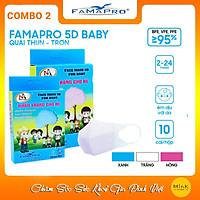 Combo 2 hộp khẩu trang y tế trẻ em 5D Nam Anh (Màu Xanh - Hồng) - 1 hộp 10 cái