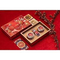 Set quà Tết Nhụy hoa Nghệ tây Saffron Salam 1gr tặng kèm hoa cúc 8gr và hoa nhài 8gr