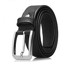 Montagut Men's Casual Pin Buckle Belt Business Men's Belt Strap Leather Pants R253134291A Black