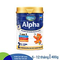 Sữa Bột Vinamilk Dielac Alpha 2 - Hộp Thiếc 400g