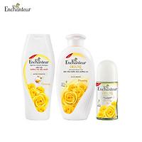 Bộ Kit Enchanteur Charming gồm Dầu gội 180gr, Sữa tắm 180gr, Lăn khử mùi 50ml