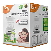 Máy Tiệt Trùng Sấy Khô Bình Sữa Điện Tử Fatzbaby FB4909KM Tặng 1 Bình Sữa Fatz 180ml