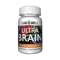 Thực phẩm chức năng  Viên uống bổ não giúp cải thiện trí nhớ Ultra Brain Memory Improvement Labwell 60 viên