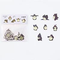 32 Miếng Sticker Dán Trang Trí Totoro- Mèo