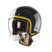 Mũ bảo hiểm Royal kính âm M139 tem V10 đen line vàng