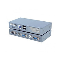 VGA KVM Switch 2 port bán tự động Dtech DT-8021 Chính Hãng