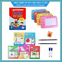 Combo phát triển tư duy cho trẻ 3 - 4 tuổi - Version 1 (Toán tư duy 3-4t, bảng gạt thông minh, vở viết xóa, tặng 2 chì, 2 bút viết xóa)