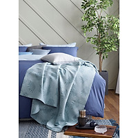 Chăn hè màu xanh Summer Leaf 150*190cm Sa Maison