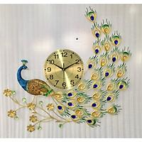 Đồng hồ trang trí chim công 1810