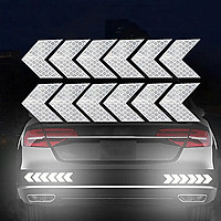 12PCS Big Car Night Warning Reflective Sticker Scratch Modified Electric Motorcycle Body Sticker