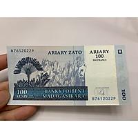 [TIỀN SƯU TẦM] Tiền Madagascar 100 Ariary - tặng phơi nylon bảo quản tiền