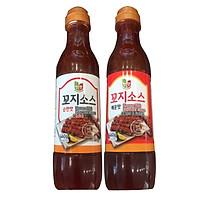 Combo 2 chai Nước sốt thịt xiên vị cay và vị ngọt Chungwoo x 460g/chai