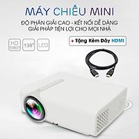 Máy chiếu gia đình, giải trí mini FULL HD YG530, tính năng kết nối điện thoại tiện dụng, tặng cáp kết nối HDMI - Hàng chính hãng