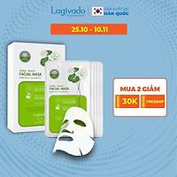 Combo 10 Mặt nạ dưỡng ẩm trắng da giúp kiềm dầu và mụn Hàn Quốc Lagivado Hydra Calming Facial Mask 23g/miếng