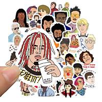 Set 60 Sticker Hip Hop Rapper