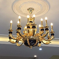 Đèn chùm 15 bóng nến  khung hợp kim mạ niken 18373