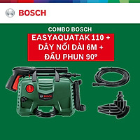 Combo Máy Phun Xịt Rửa Áp Lực Cao Bosch Easyaquatak 110 + Dây Nối Dài 6m Và Đầu Phun 90 Độ