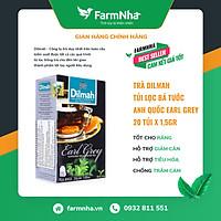 Trà túi lọc Dilmah Bá Tước Anh Quốc Earl Grey - Hàng chính hãng - Tốt cho răng, hỗ trợ hệ tiêu hóa, hỗ trợ giảm cân [Farm Nhà Việt]