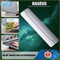 Giá đỡ gấp gọn hợp kim nhôm cho Laptop/Macbook - Đế tản nhiệt dạng xếp, siêu mỏng Baseus Papery Notebook Holder  (0.3cm slim, 8° Angle, Foldable, Portable Alloy Laptop Stand)-Hàng Nhập Khẩu