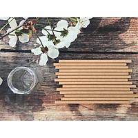 Combo 700 ống hút giấy phi 8 x 197 mm đủ màu sắc dùng cho sinh tố, đá bào (gói 50 ống) sản xuất tại Việt Nam