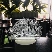 Đèn ngủ 3D hình Tàu chiến