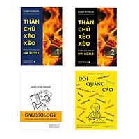 Combo Bán Hàng Xèo Xèo (Thần Chú Xèo Xèo Tập 1-2 + Đời quảng cáo + Salesology - Bí kíp bán hàng của triệu phú Holcomb - kèm hộp)