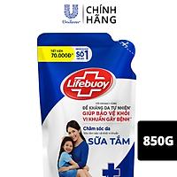 Sữa tắm Lifebuoy 850g Chăm sóc da dưỡng ẩm mềm mịn giúp bảo vệ khỏi 99.9% vi khuẩn và ngăn ngừa vi khuẩn lây lan trên da