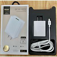 Bộ sạc nhanh Hàng chính hãng Winlink QC5.0-VOOC đuôi USB-Micro (Sạc 30p đầy 50% Pin)