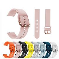 Tương thích cho Samsung Galaxy Active Smart Watch 2 40 44 38 42mm 20mm 22mm Dây silicon đầy màu sắc