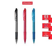 Bút bi bấm Pentel nét 0.7mm BK417 (set 5 cây)