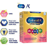 Sữa bột Enfamil A+ NeuroPro 2 với 2'-FL HMO cho trẻ từ 6 –12  tháng tuổi– 1.1kg